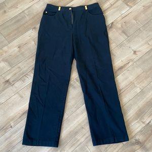 St. John Sport Black Pants Sz 8